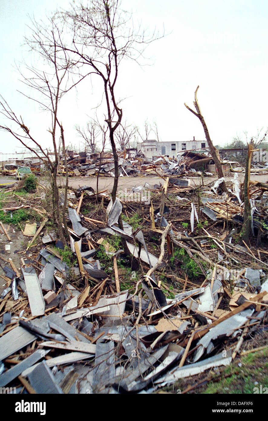 Nach der Zerstörung verursacht durch Hurrikan Andrew 24. August 1992 in Dade County, Florida. Stockbild