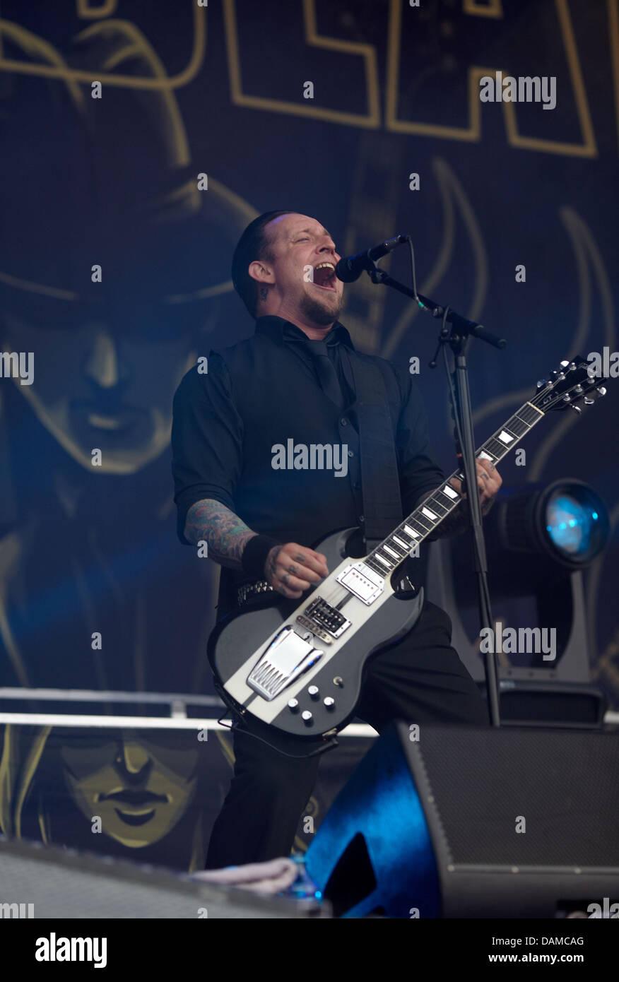 Frontmann Der Dänische Metal Band Volbeat Michael Schøn Poulsen