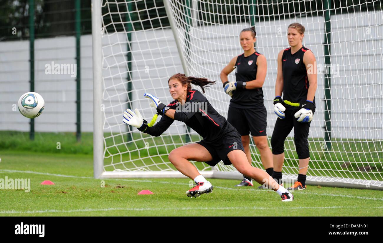 Hoffe Solo L Torwart Von Der Us Frauen Fussball