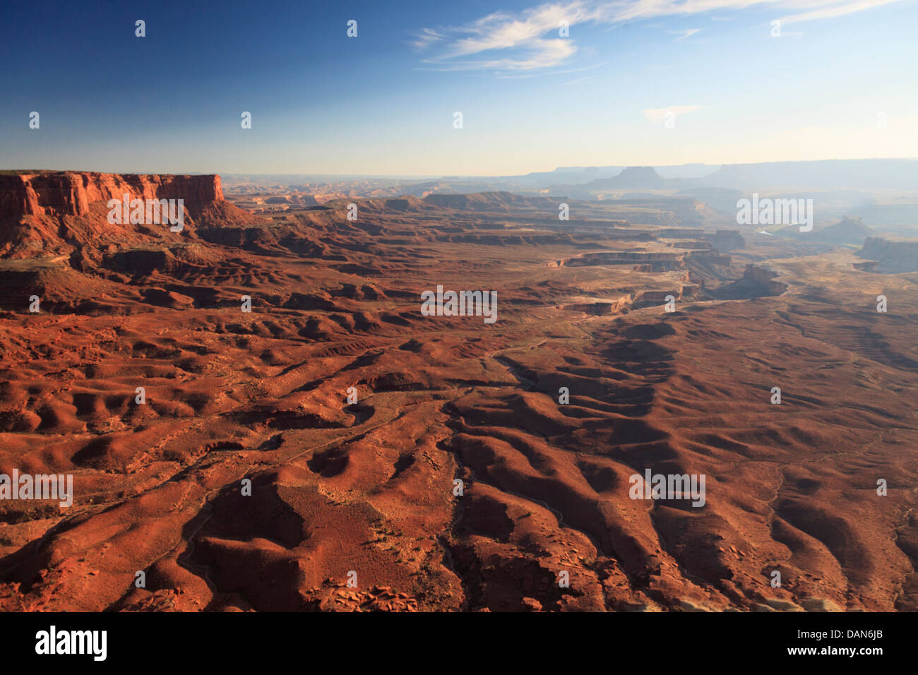 USA, Utah, Canyonlands National Park, Insel im Stadtteil Himmel, Grand View Point Stockbild