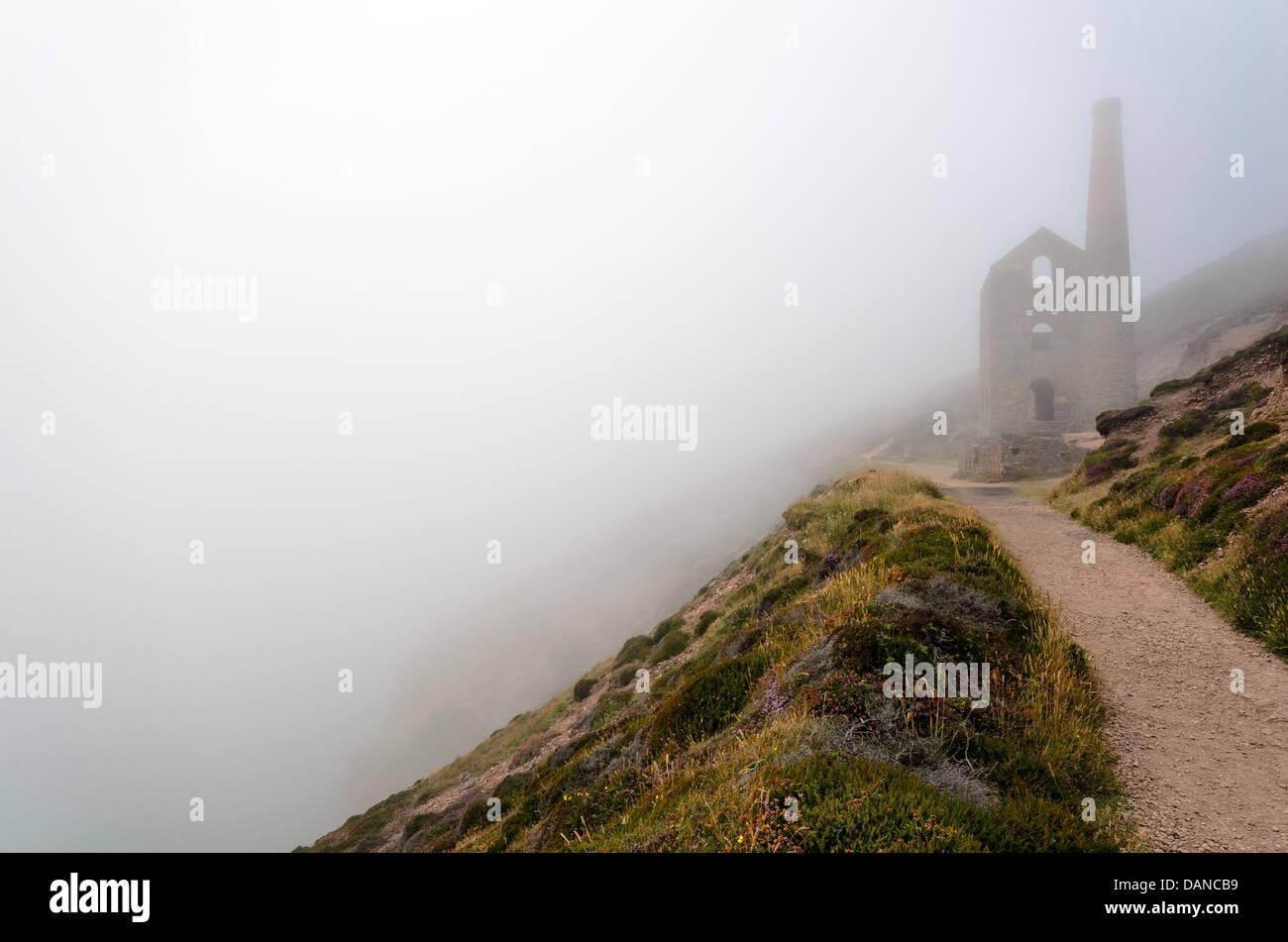 Cornish Zinnmine bei Wheal Coates Stockbild