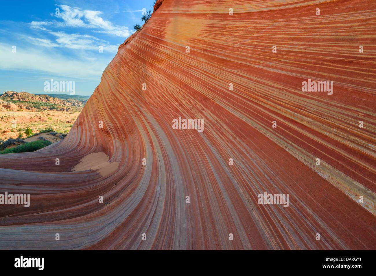 Felsformationen in den North Coyote Buttes, Teil der Vermilion Cliffs National Monument. Dieser Bereich ist auch Stockbild