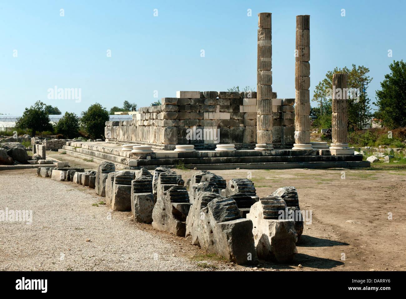 Asien, Ägypten, Provinz Mugla, Kinik, Letoon, Das Antike Heiligtum der Nahe Gelegenen Stadt Xanthos Und des Stockbild