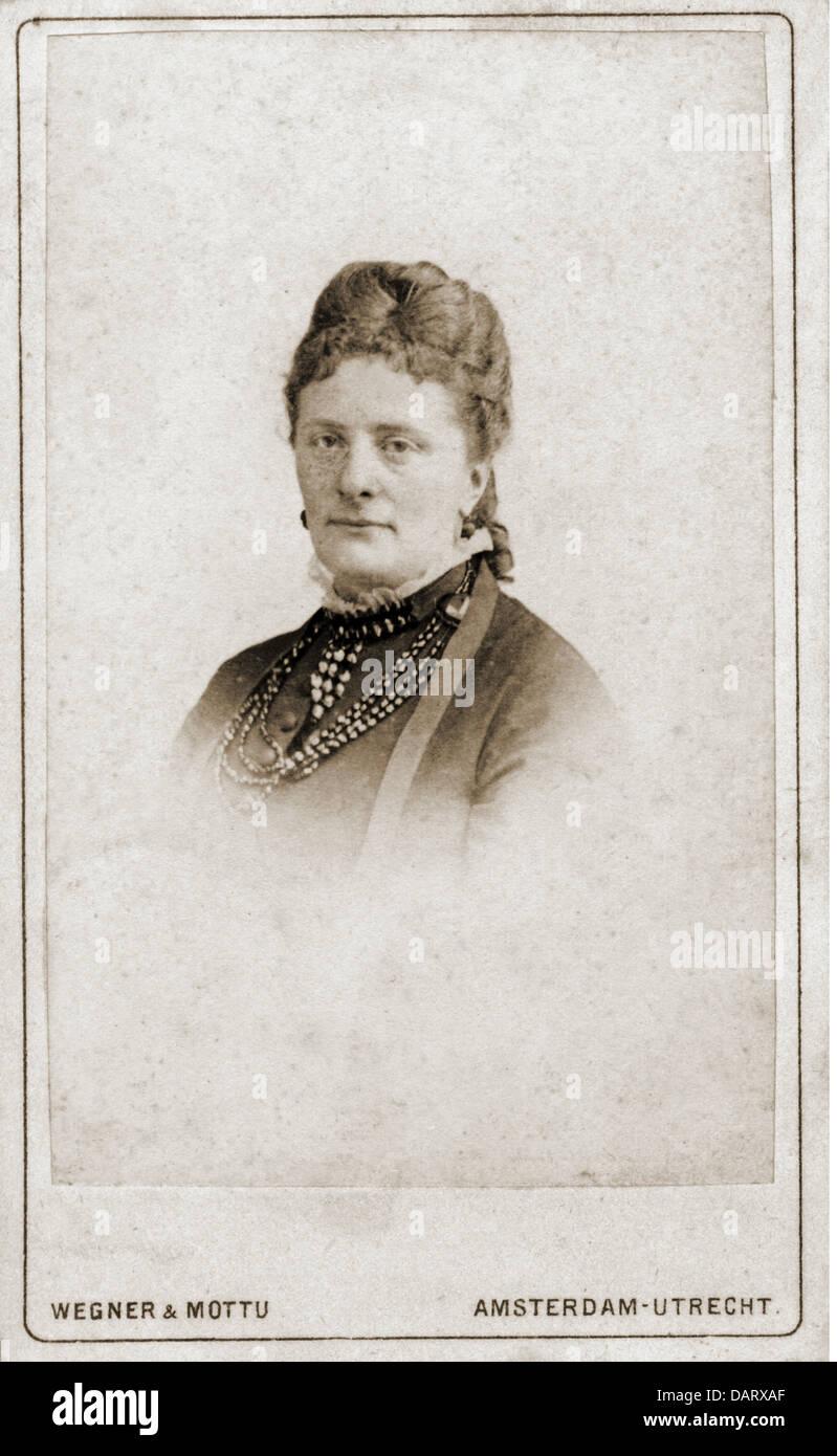 Menschen Historische Frauen Frau Portrait Foto Wegner Mottu Carte De Visite Amsterdam Utrecht Niederlande 19 Jahrhundert Additional Rights