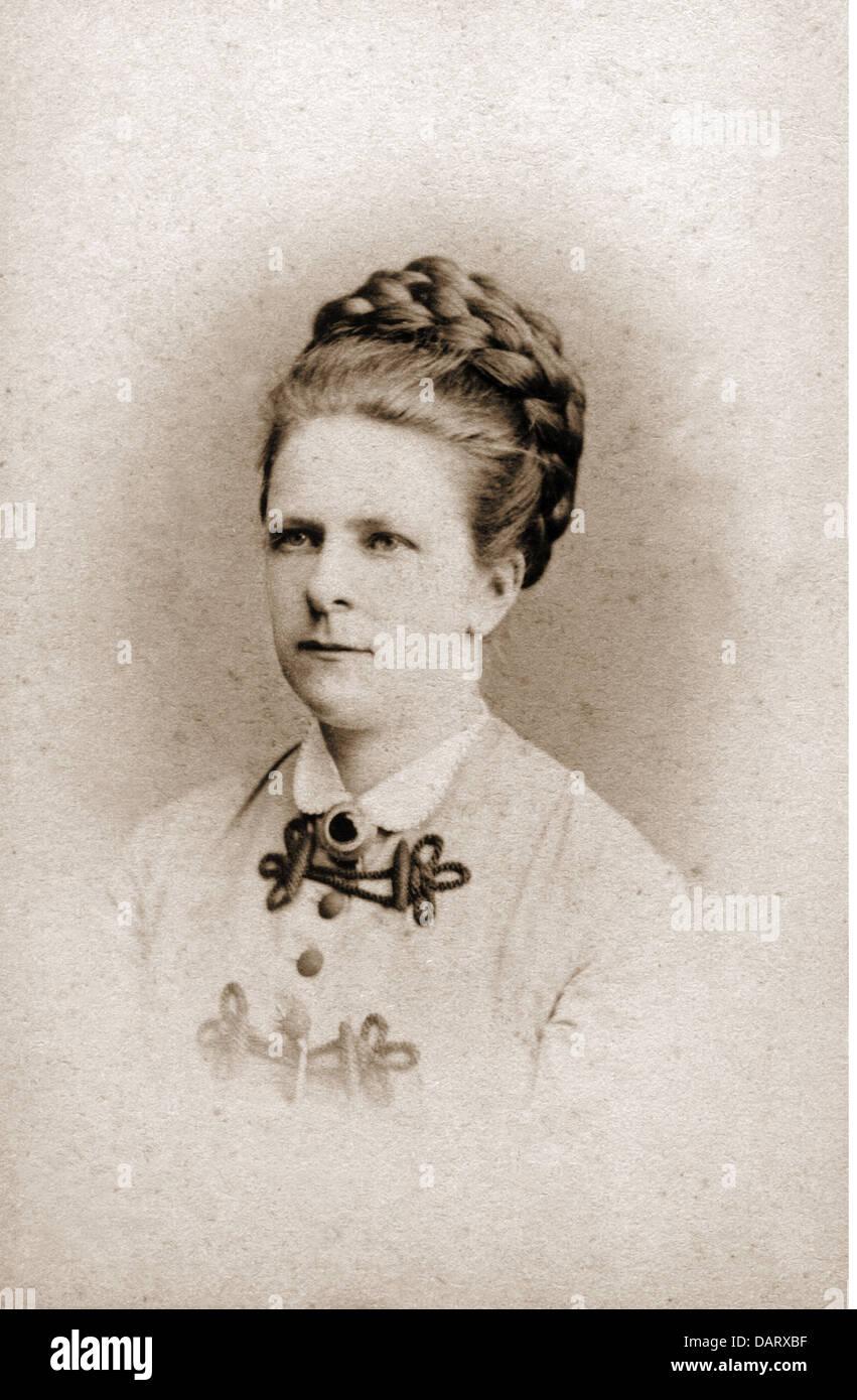 Menschen Historische Frauen Frau Portrait Foto Von J Loewy Carte De Visite Wien Osterreich Um 1900 Additional Rights