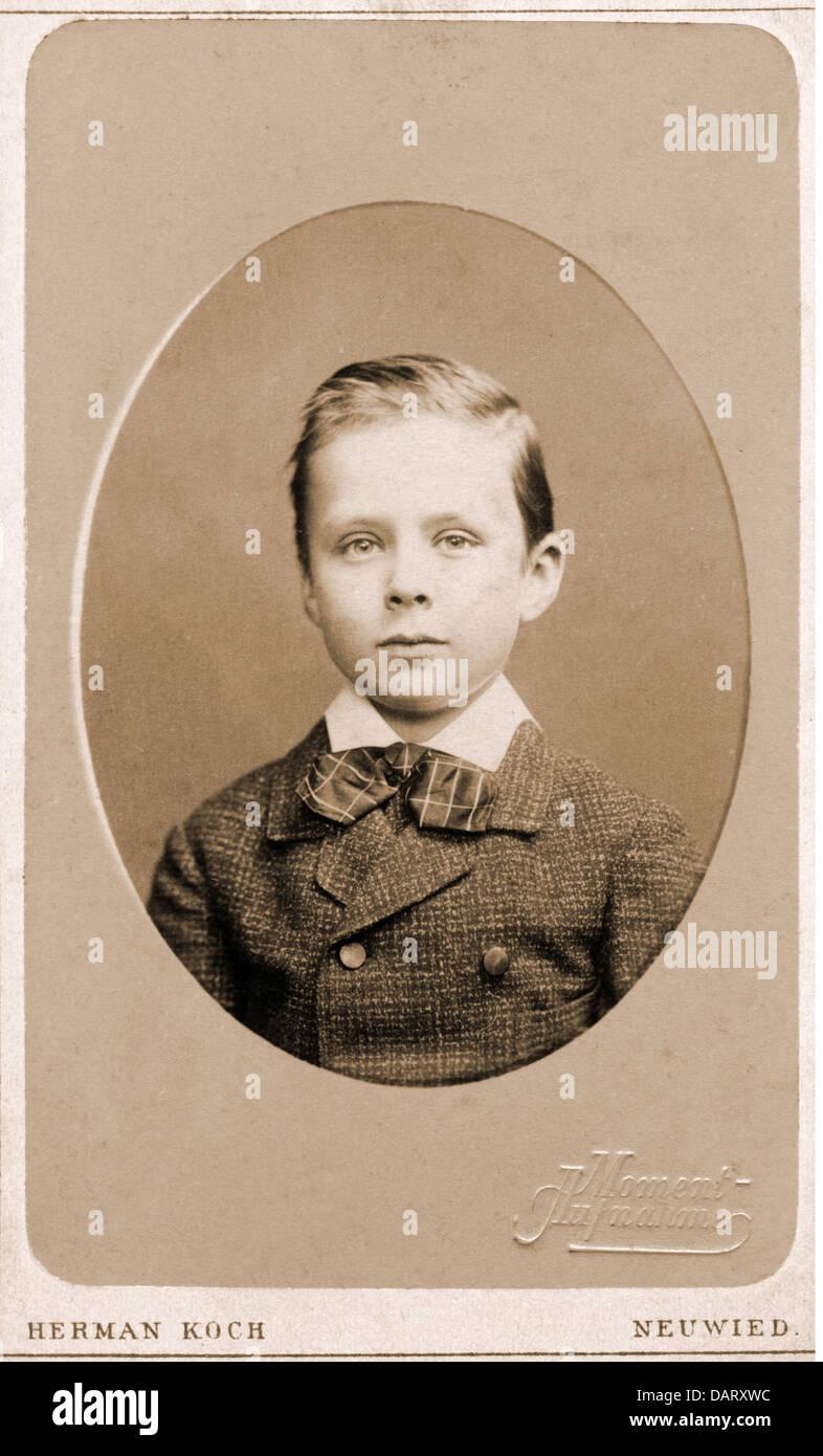 Menschen Kinder Junge Carte De Visite Von Herman Koch Neuwied Am Rhein Deutschland Um 1900 Additional Rights