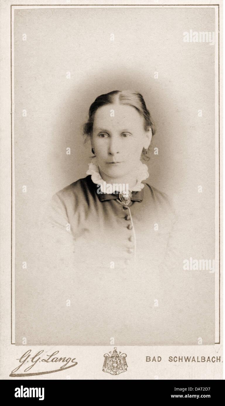 Leute Frauen Frau Carte De Visite Durch G Lange Darmstadt Bad Schwalbach Deutschland Um 1900 Additional Rights