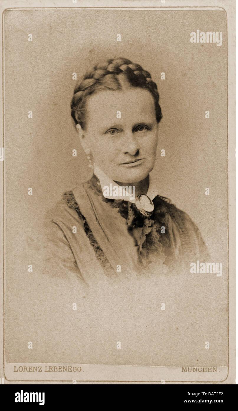 Leute Frauen Frau Carte De Visite Von Lorenz Lebenegg Munchen Deutschland Um 1900 Additional Rights