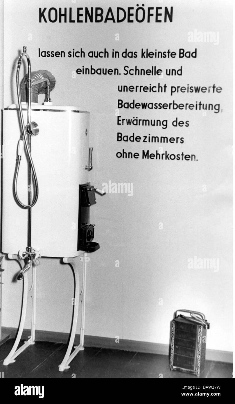 Unterbringung Badezimmer Kohle Heisswasser Heizung Ausstellung