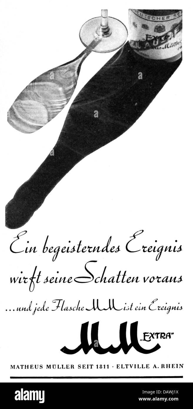 Werbung, Getränke, MM Sekt, Matheus Mueller, Eltville, Anzeige ...