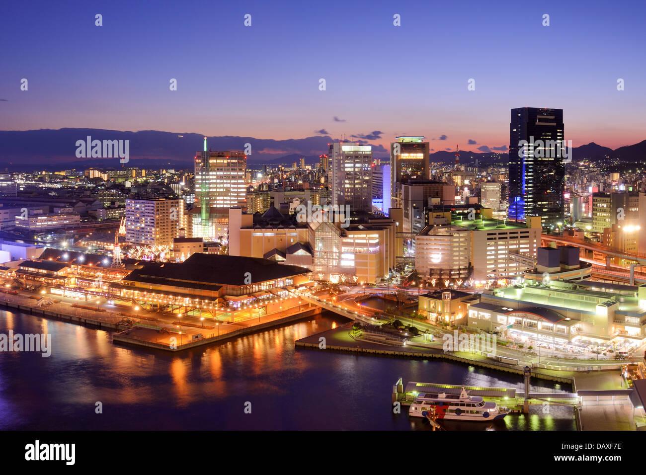 Kobe, Japan Innenstadt Stadtbild am Hafen. Stockbild