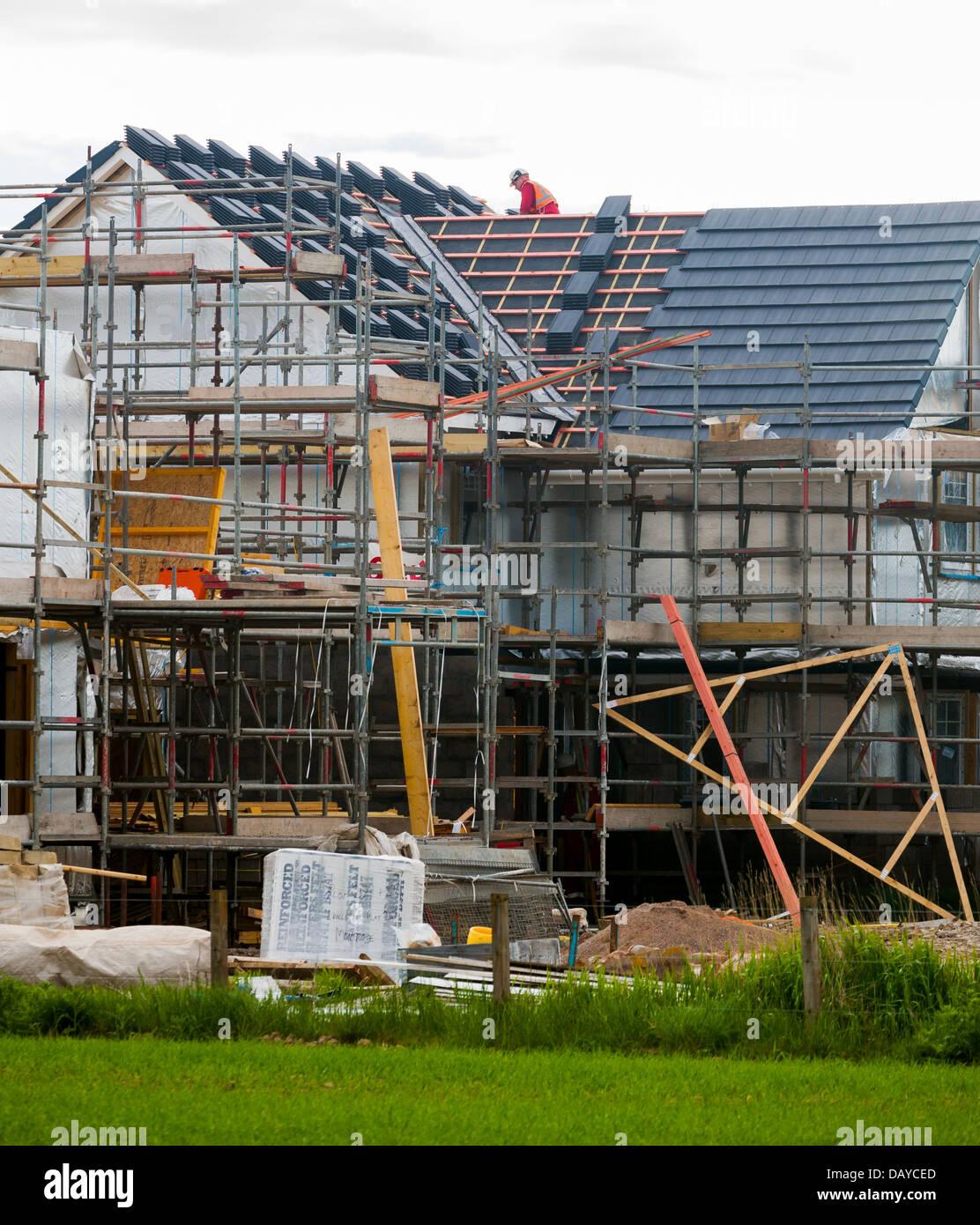 Neues Haus bauen Montrose Schottland Großbritannien Stockbild