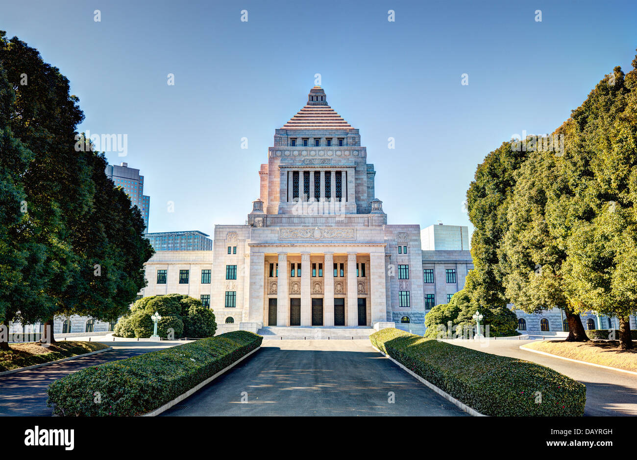 Das National Diet House of Japan. Stockbild
