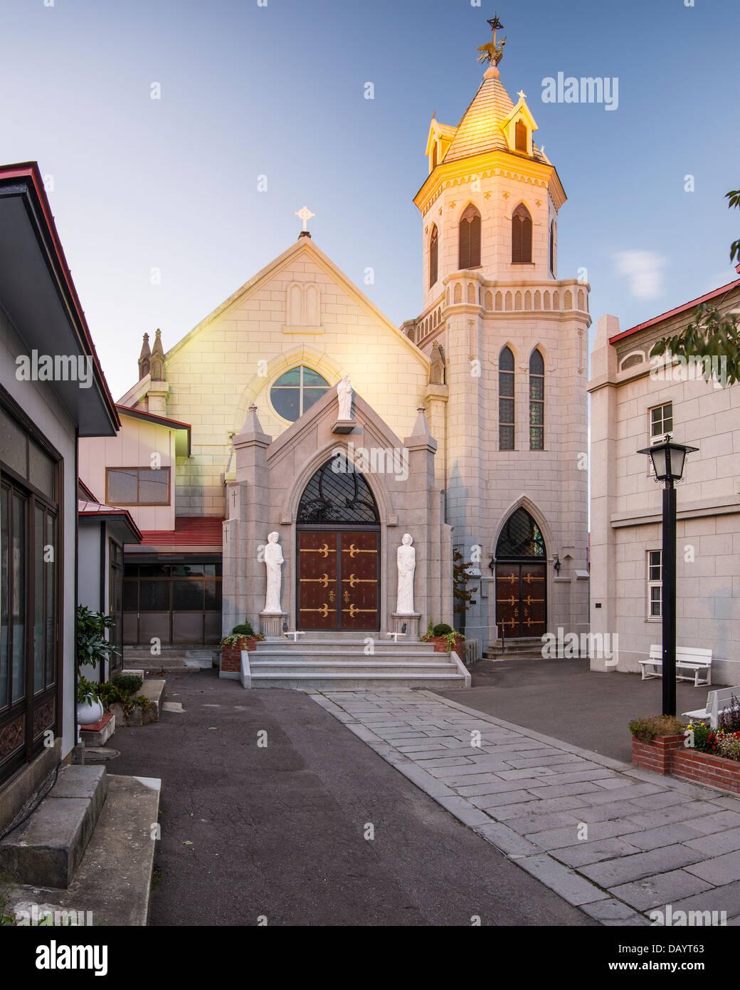 Motomachi katholische Kirche. Die Kirche stammt aus 1877. Stockbild