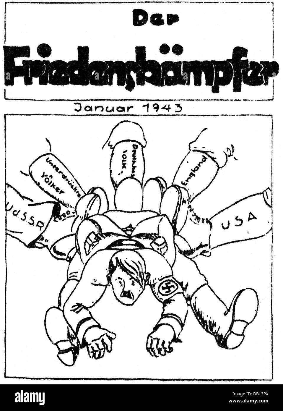Karikatur Widerstand Nationalsozialismus