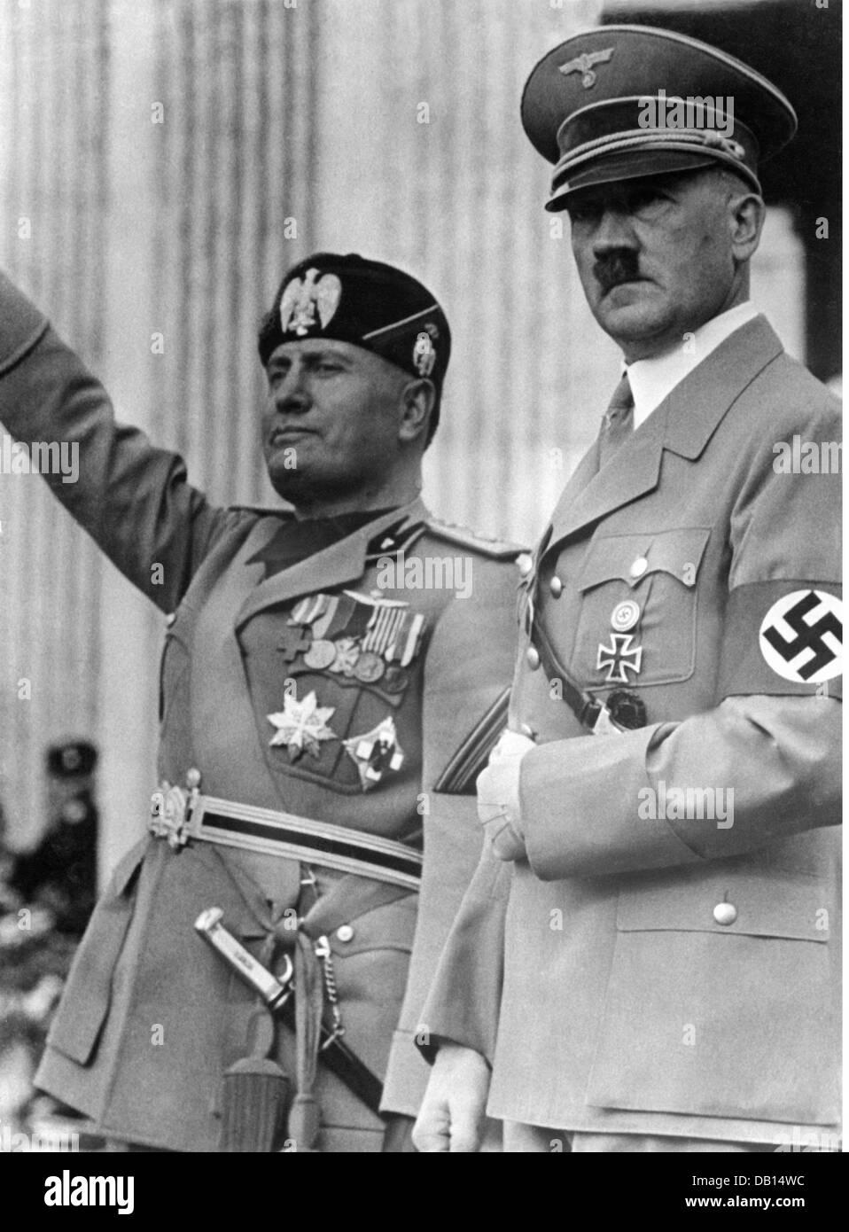Mussolini, Benito, 29.7.1883 - 28.4.1945, italienischer Politiker (PNF), Premierminister 30.10.1922 - 25.7.1943, Stockfoto
