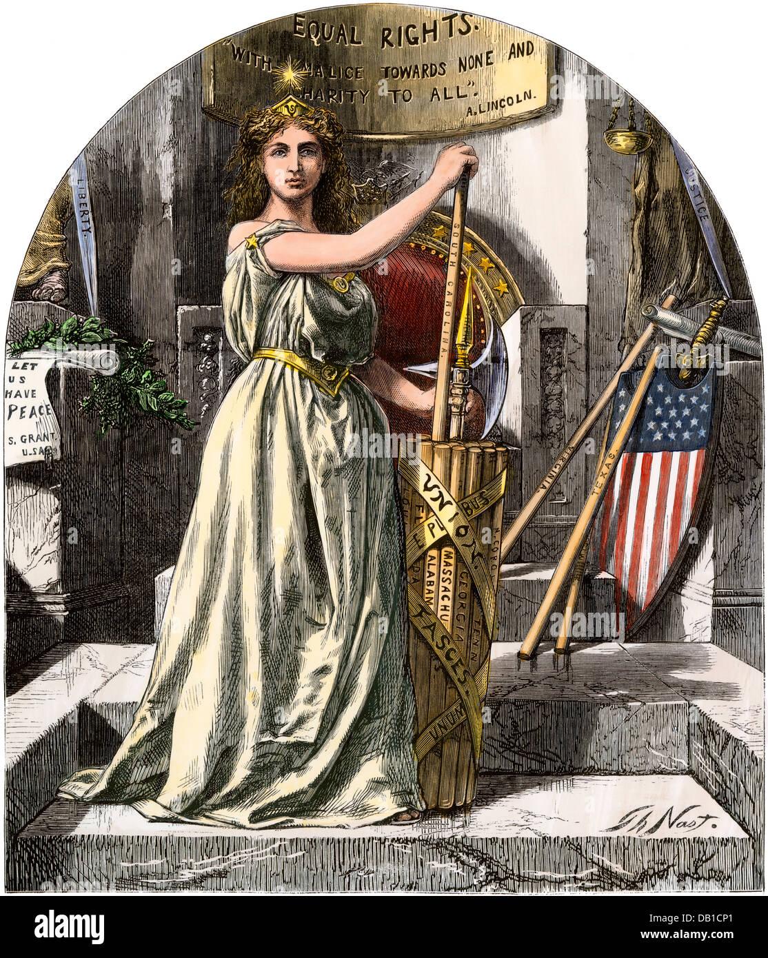 Wiederaufbau als Gleichberechtigung Reform, 1868 dargestellt. Stockbild