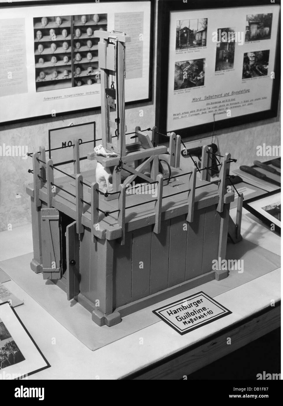 Justiz Strafanstalt Enthauptung Miniatur Der Hamburger Guillotine Museum Deutschland Hamburg Gerichtsbarkeit Strafen Strafen Strafen Todesstrafe Hinrichtung Hinrichtungen Enthauptung Guillotine Enthauptung Enthauptung Miniatur
