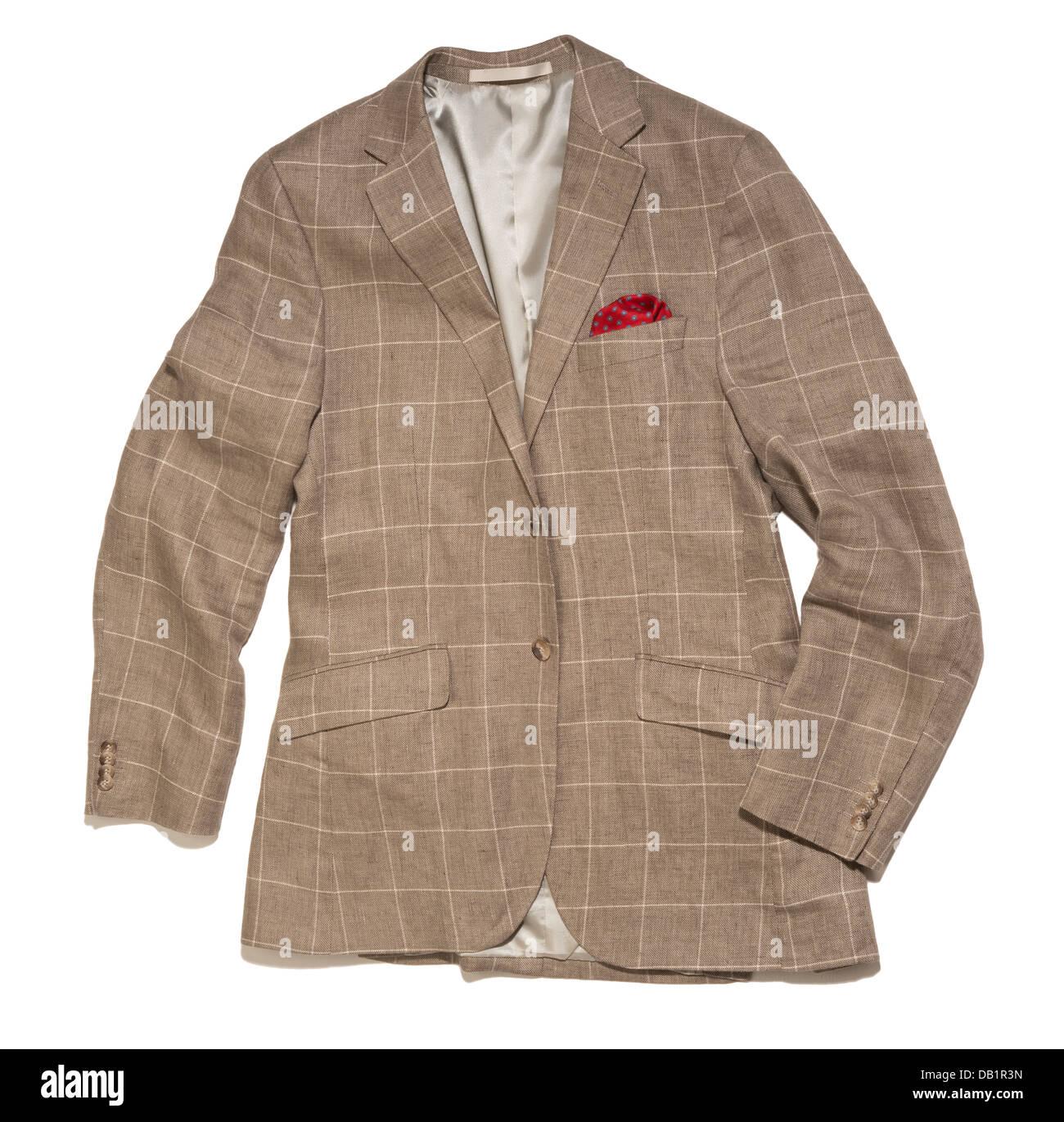 Leinen Jacke oder blazer Stockbild