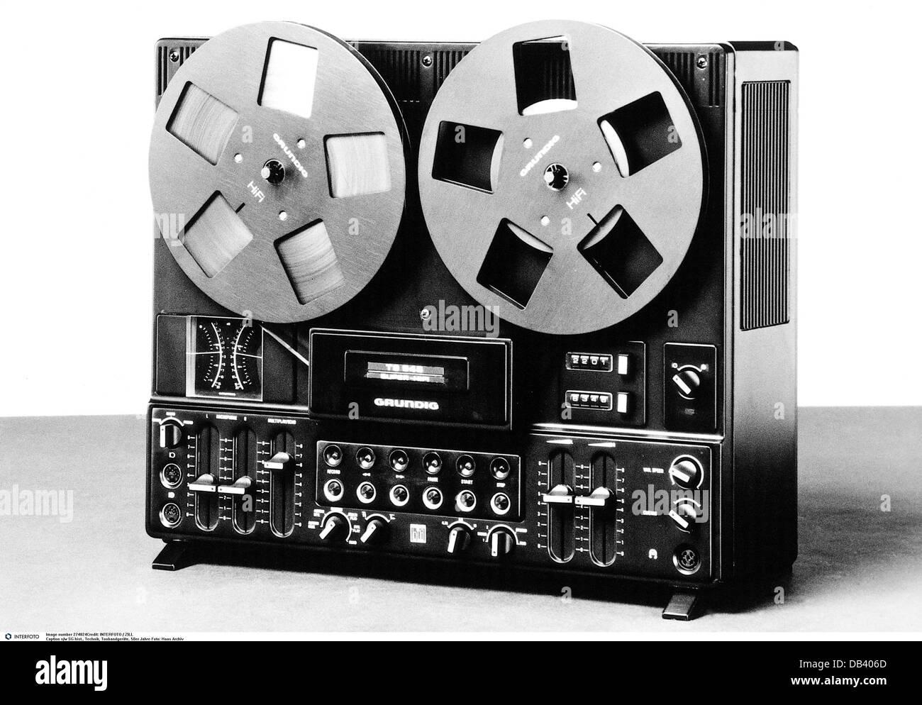 Technics Tonband 1950er Jahre 50er Jahre 20. Jahrhundert historischen historischen Elektronik Elektrogeräte Stockbild