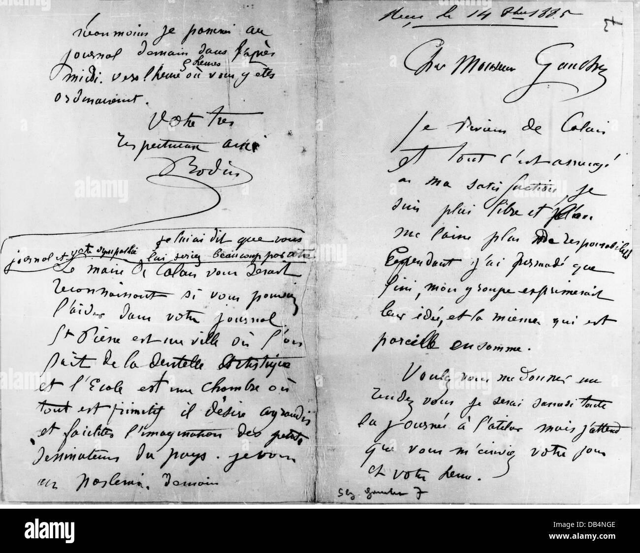 Französisch an einen auf brief freund schreiben Französisch Brief