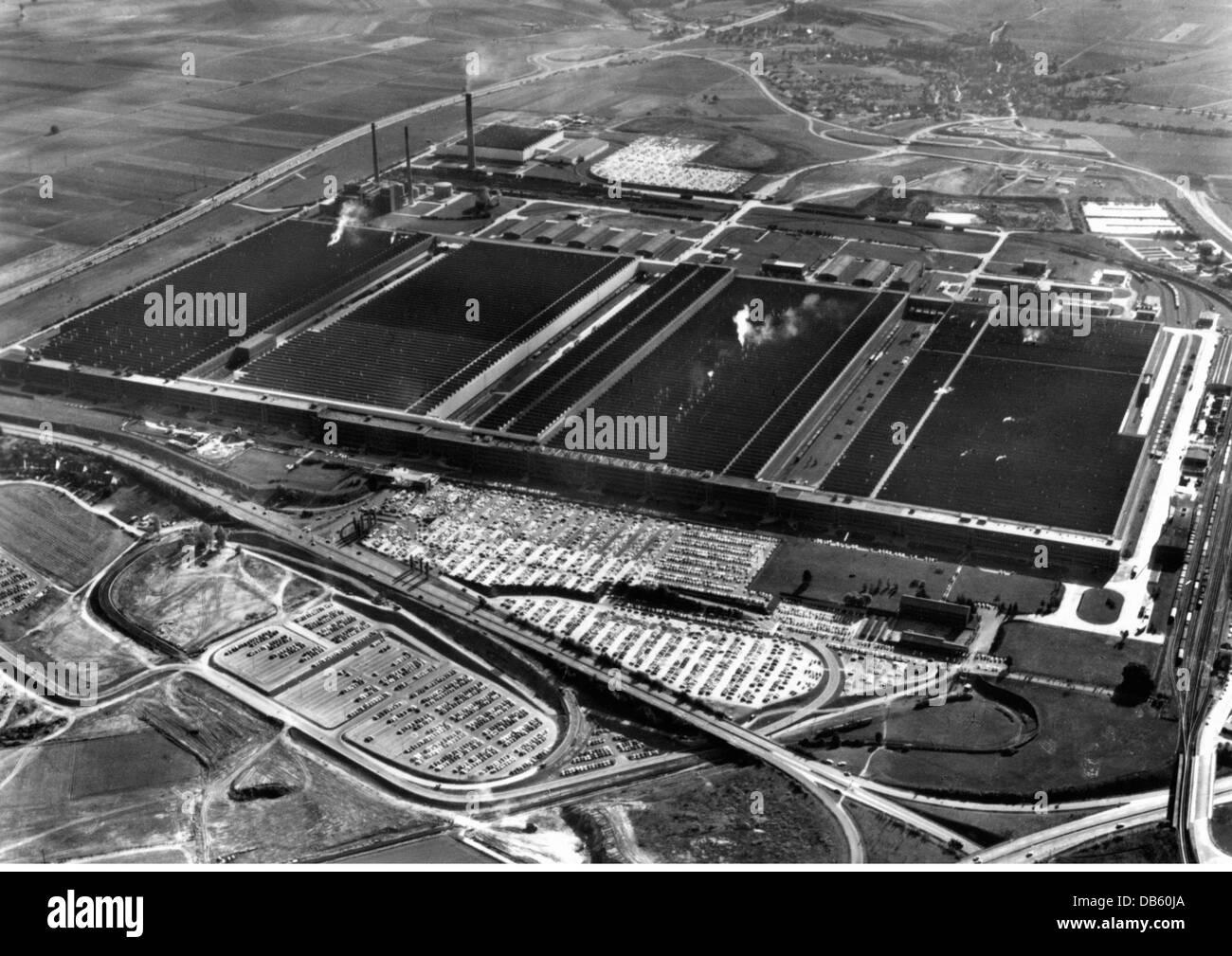 aerial view volkswagen car factory stockfotos aerial. Black Bedroom Furniture Sets. Home Design Ideas
