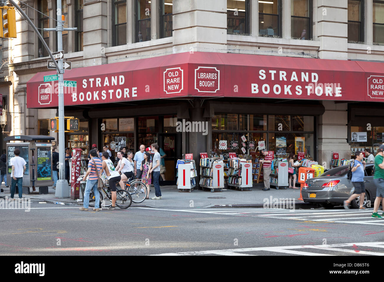 Strand Bookstore am Broadway in New York City Stockbild