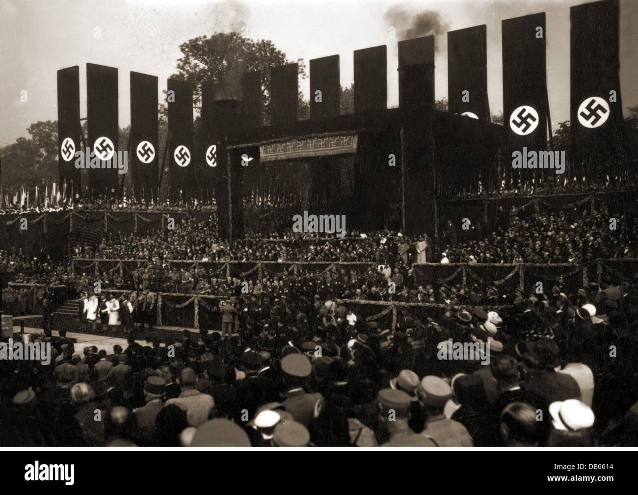 Nationalsozialismus architektur haus der deutschen kunst m nchen grundsteinlegung - Haus der architektur ...