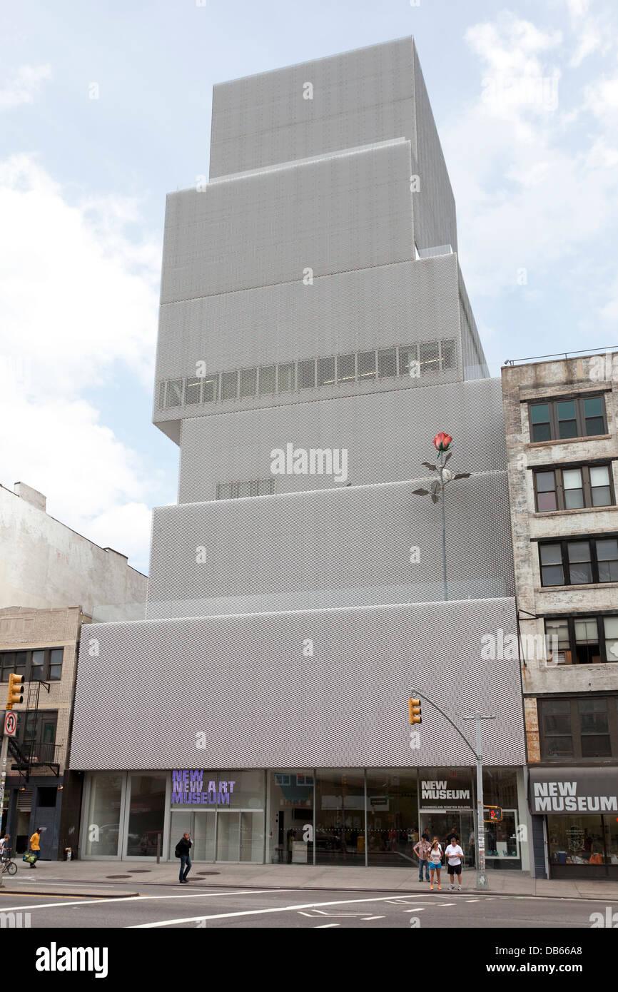 Fassade des neuen Museums für zeitgenössische Kunst in Manhattan in New York City USA Stockbild