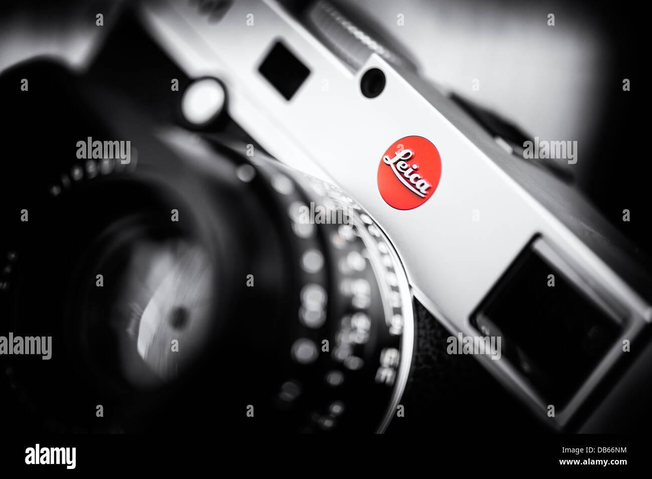 Leica Entfernungsmesser Fokos : Messsucherkamera leica m 240. selektiven fokus monochrom spot