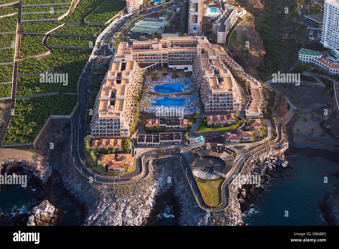 Hotel Einrichtungen im Süden von Teneriffa, Teneriffa, Kanarische Inseln, Spanien Stockbild