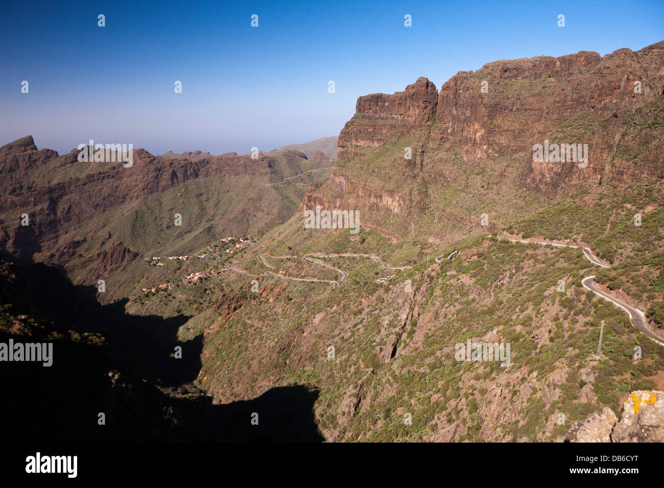 Serpentinen, Masca, Teneriffa, Kanarische Inseln, Spanien Stockbild