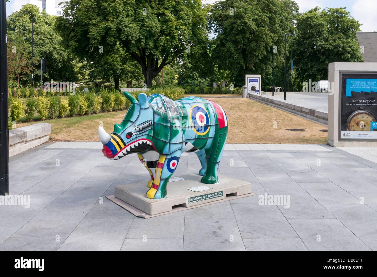 Rhinoceros Exhibit Stockfotos & Rhinoceros Exhibit Bilder - Alamy