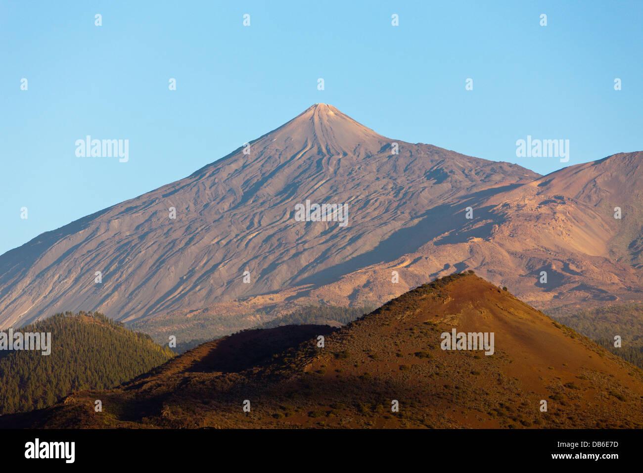 Mount Teide gesehen aus Nordwest, Teneriffa, Kanarische Inseln, Spanien Stockbild