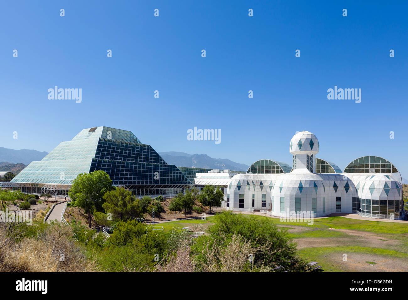 Biosphäre 2 Erde Systeme Wissenschaft Forschungseinrichtung an der University of Arizona, Oracle, in der Nähe Stockbild