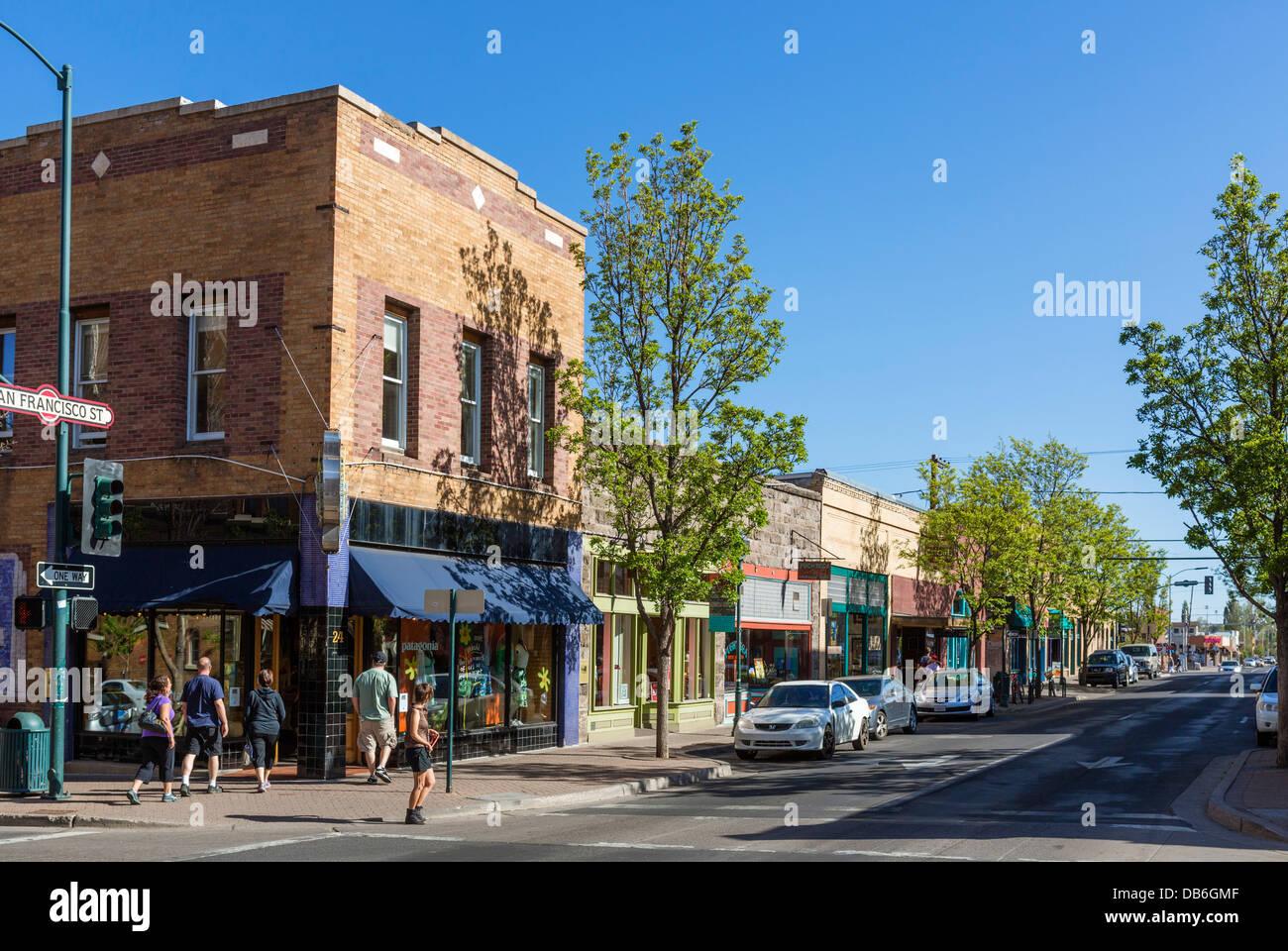 Flagstaff Arizona Downtown Streets Stockfotos & Flagstaff Arizona ...