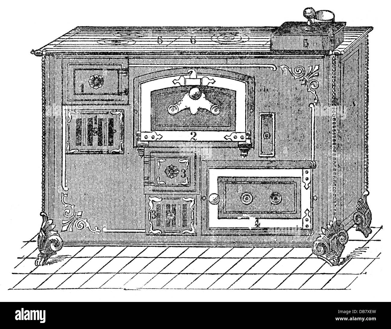 oven wood engraving stockfotos oven wood engraving. Black Bedroom Furniture Sets. Home Design Ideas