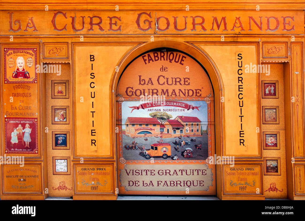 La Cure Gourmande gegründet 1989 französische Pralinen Konditorei Eis Frankreich Stockbild
