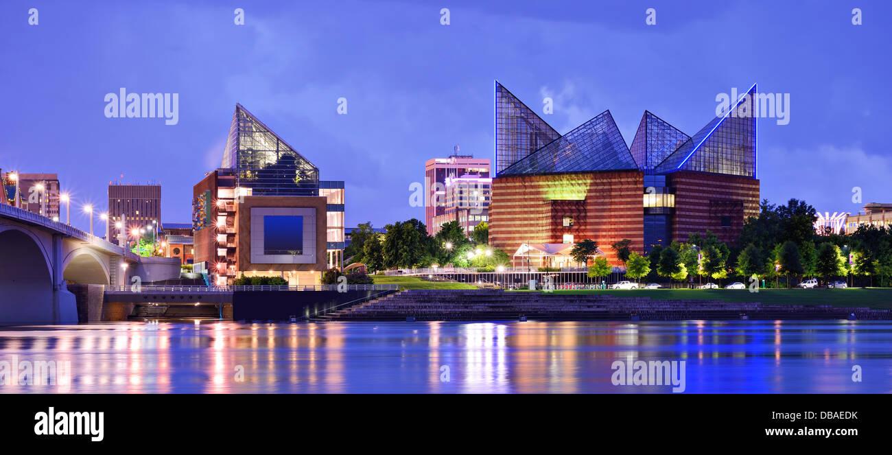 Die Innenstadt von Chattanooga, Tennessee, USA. Stockbild