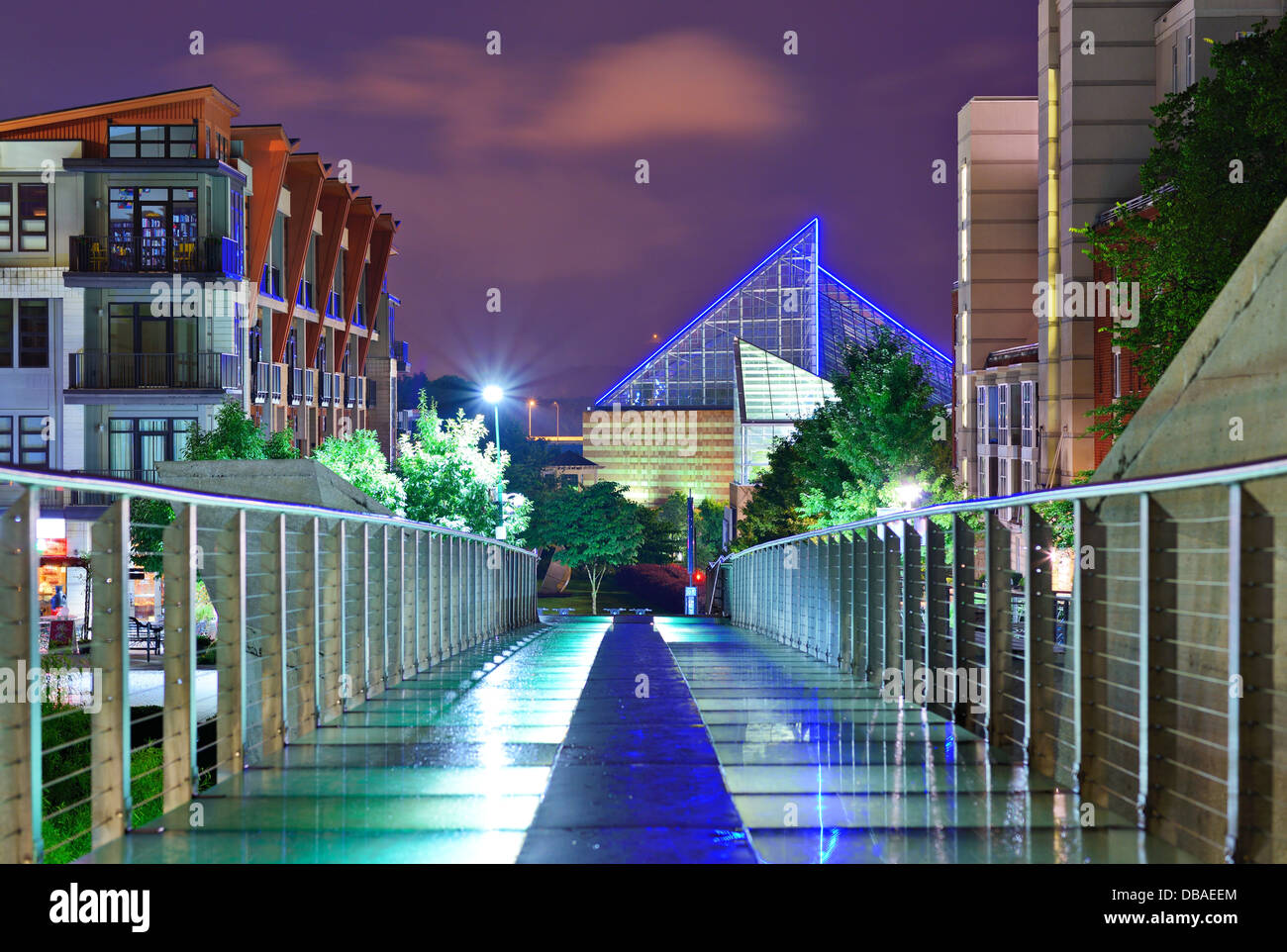 Urban-Szene in der Innenstadt von Chattanooga, Tennessee, USA. Stockbild