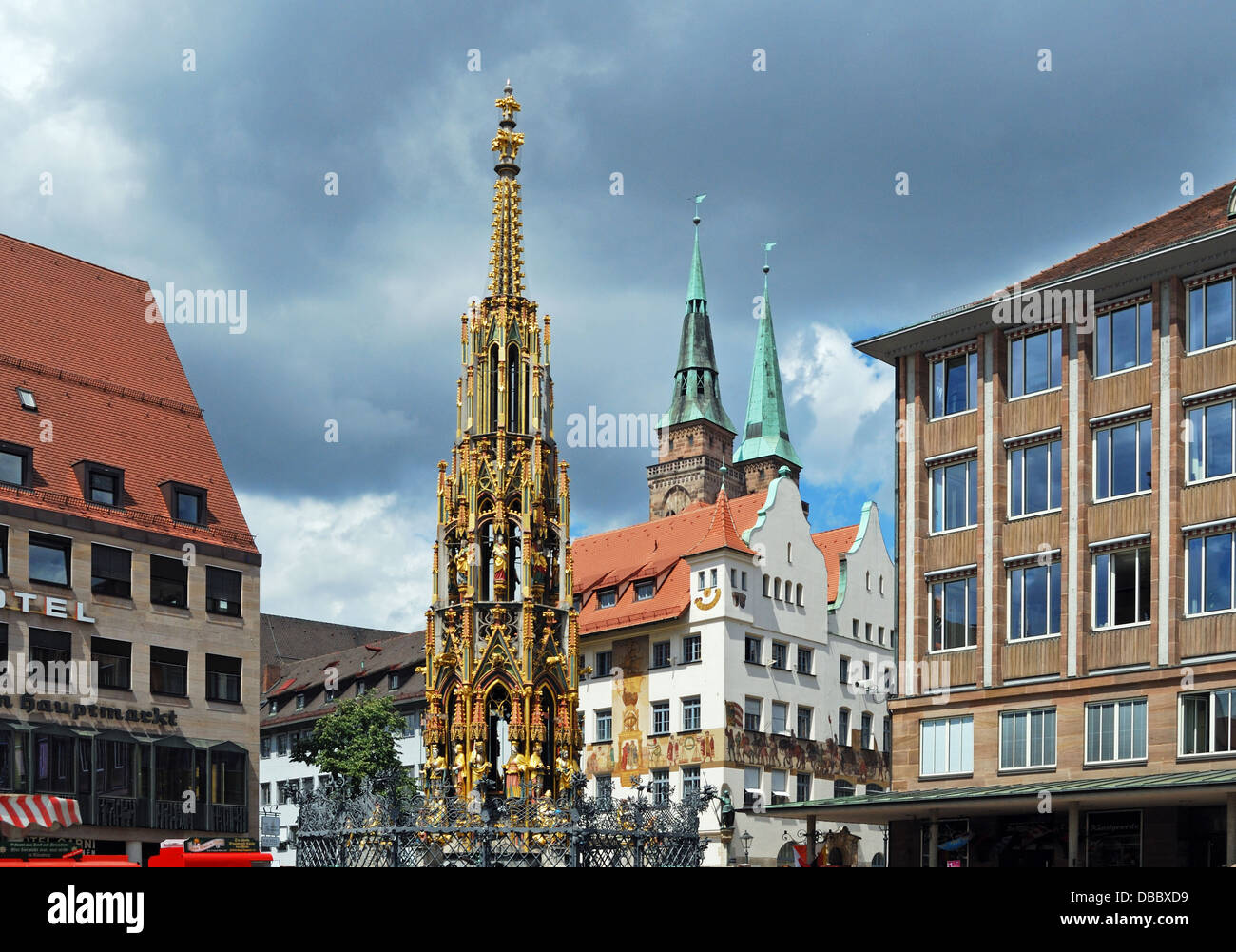 nuremberg schoner brunnen stockfotos nuremberg schoner brunnen bilder alamy. Black Bedroom Furniture Sets. Home Design Ideas