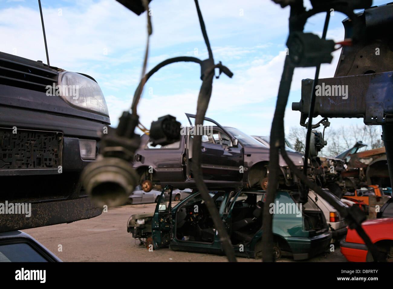 schrottplatz stockfoto, bild: 58740331 - alamy