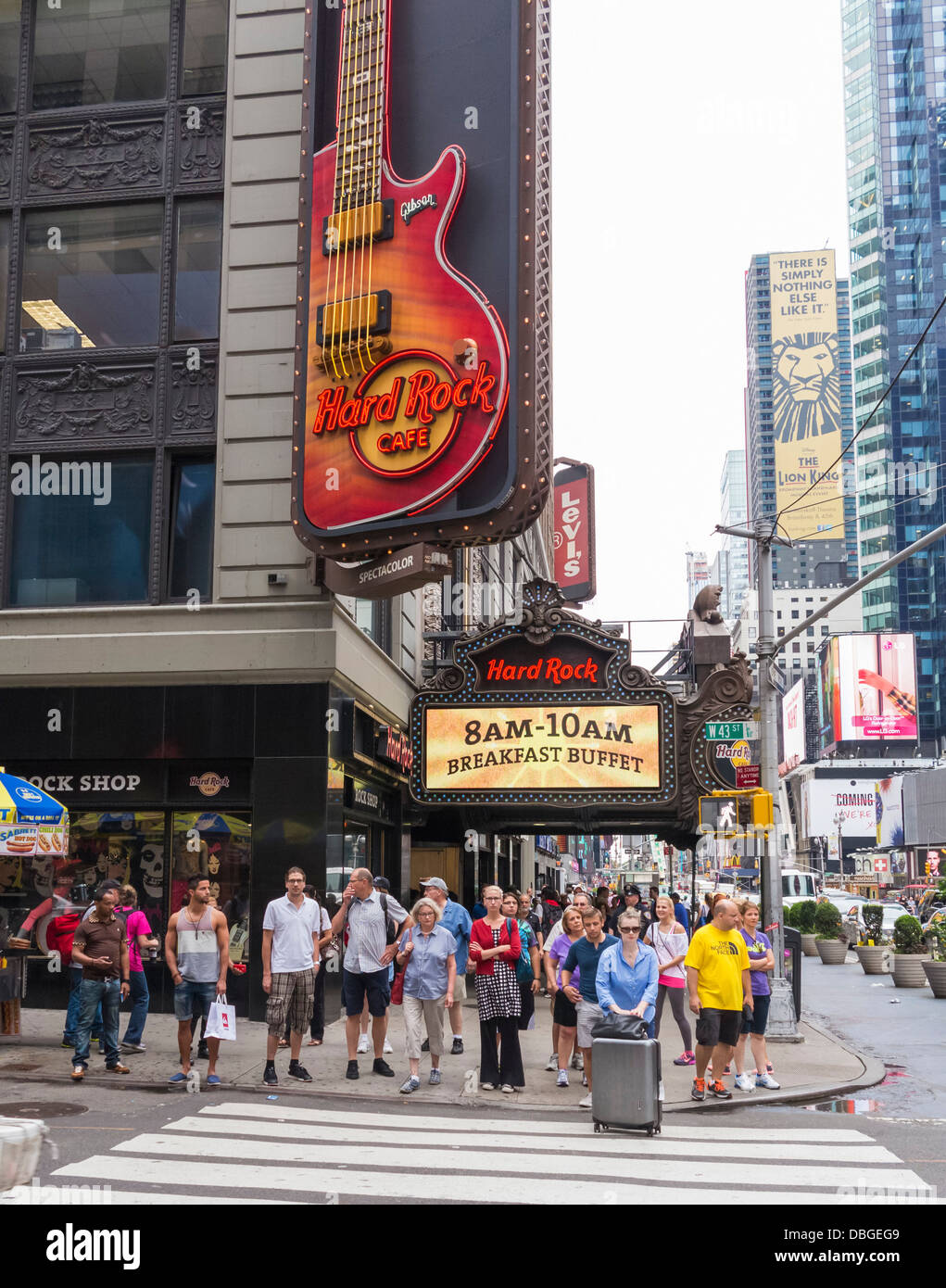 Excellent Das Hard Rock Cafe Times Square New York Stockfoto Bild Home Interior And Landscaping Oversignezvosmurscom
