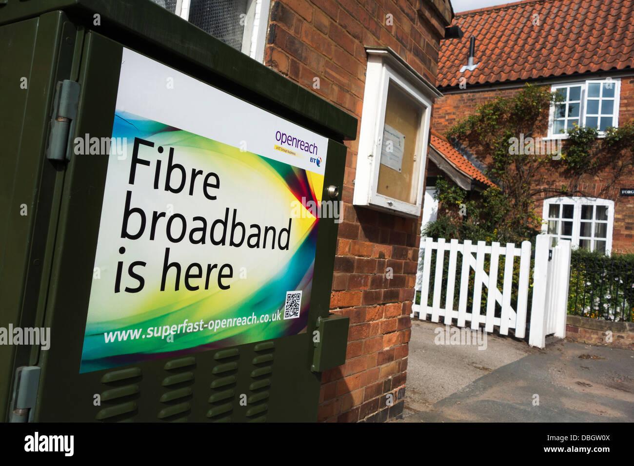 BT-Breitbandverbindung in Großbritannien. Stockbild