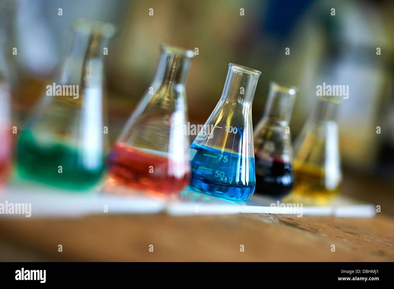 Chemie-Unterricht Stockbild