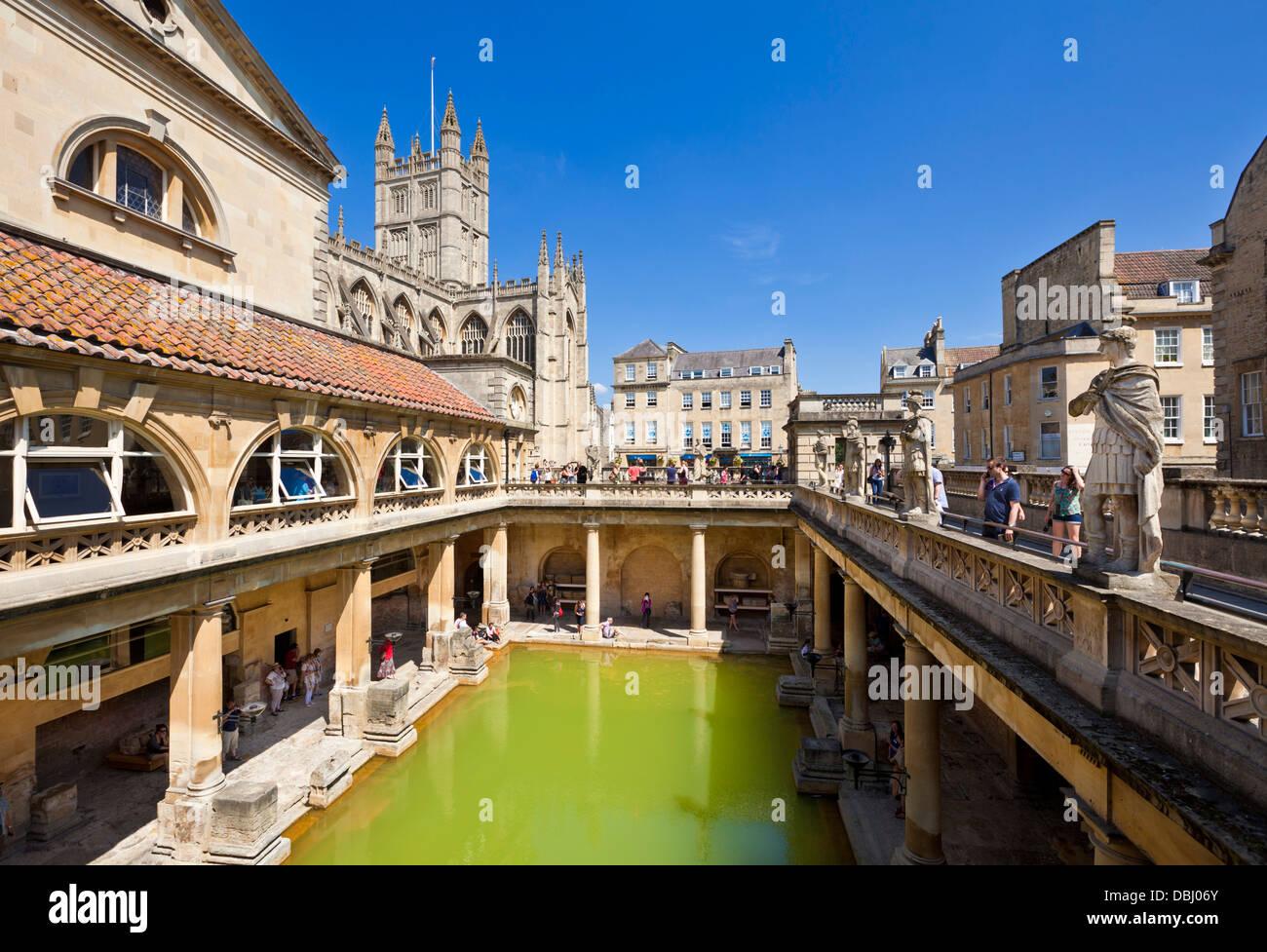 Die römischen Bäder, das große Bad, Center nur heißen Quellen im Vereinigten Königreich, Stockbild