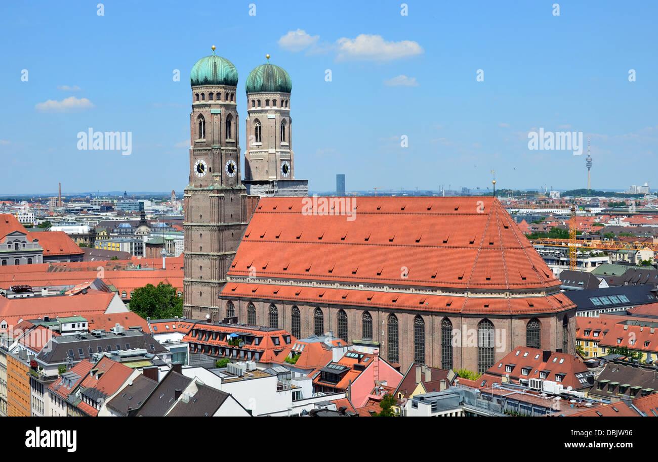 """Bayern München die Frauenkirche (vollständiger Name Dom Zu Unserer Lieben Frau """"Kathedrale unserer Stockbild"""