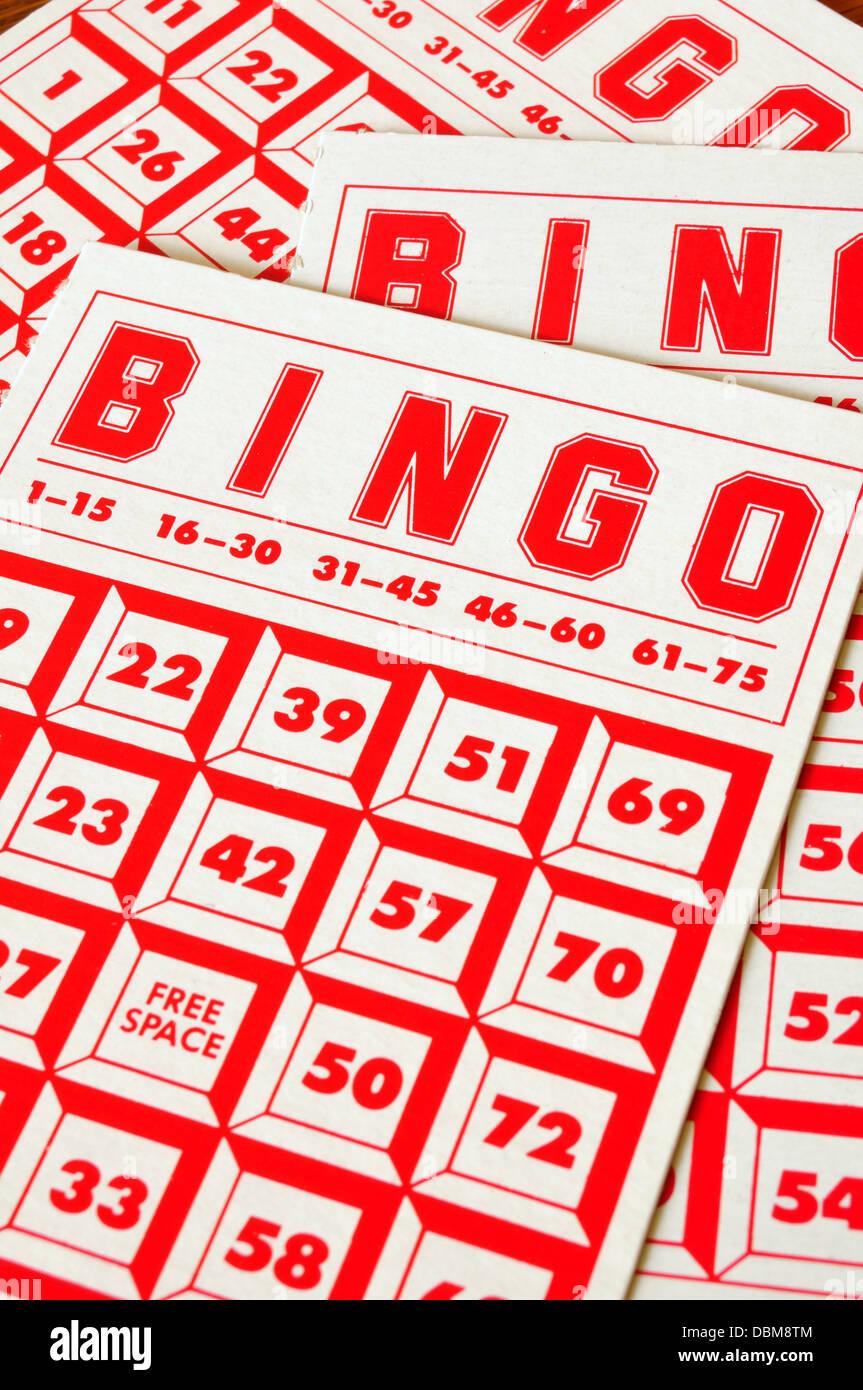 Bingo-Karte rutscht Stockbild