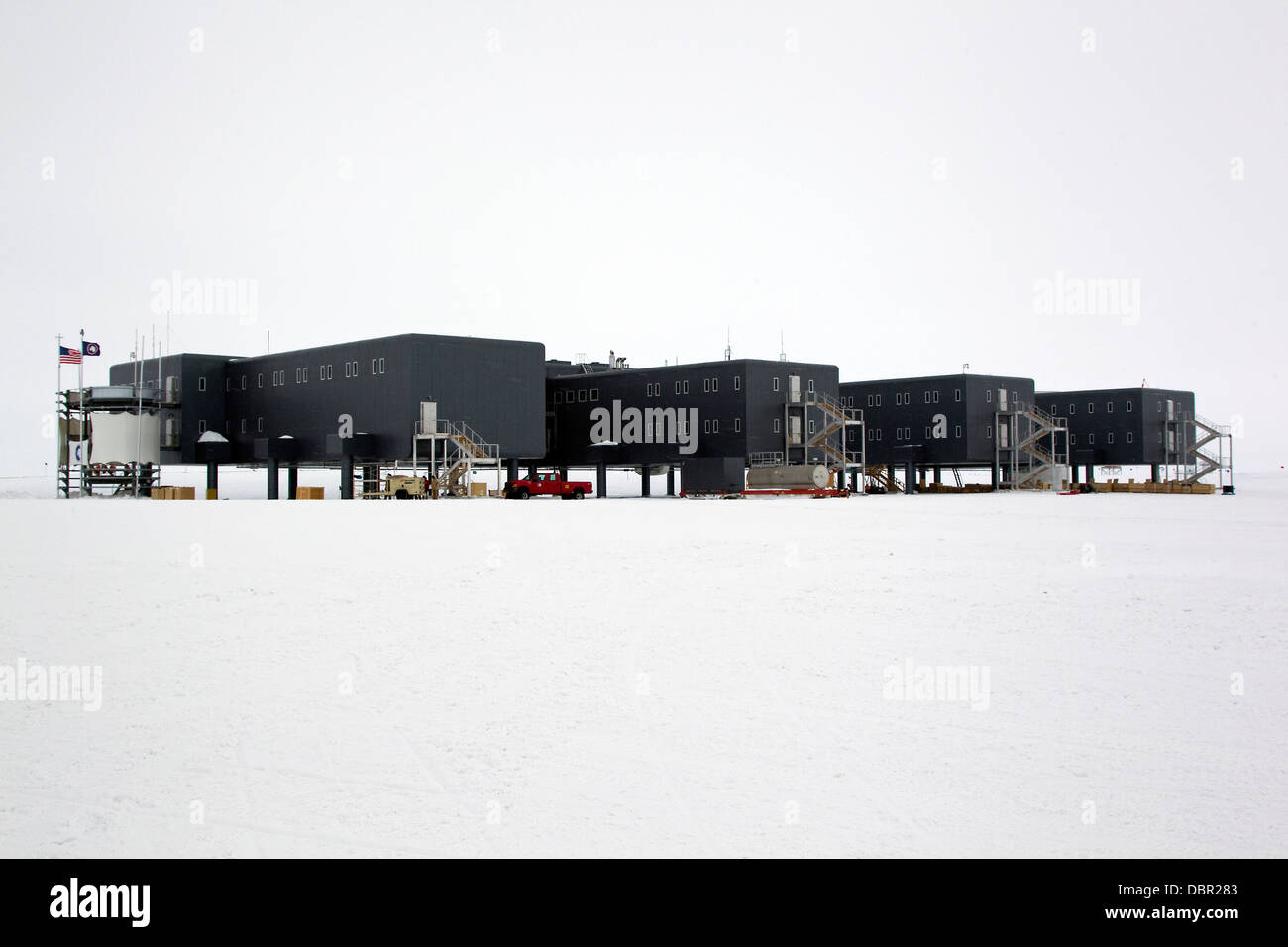 Amundsen-Scott South Pole Station, American scientific research Station, Südpol, Antarktis Stockbild