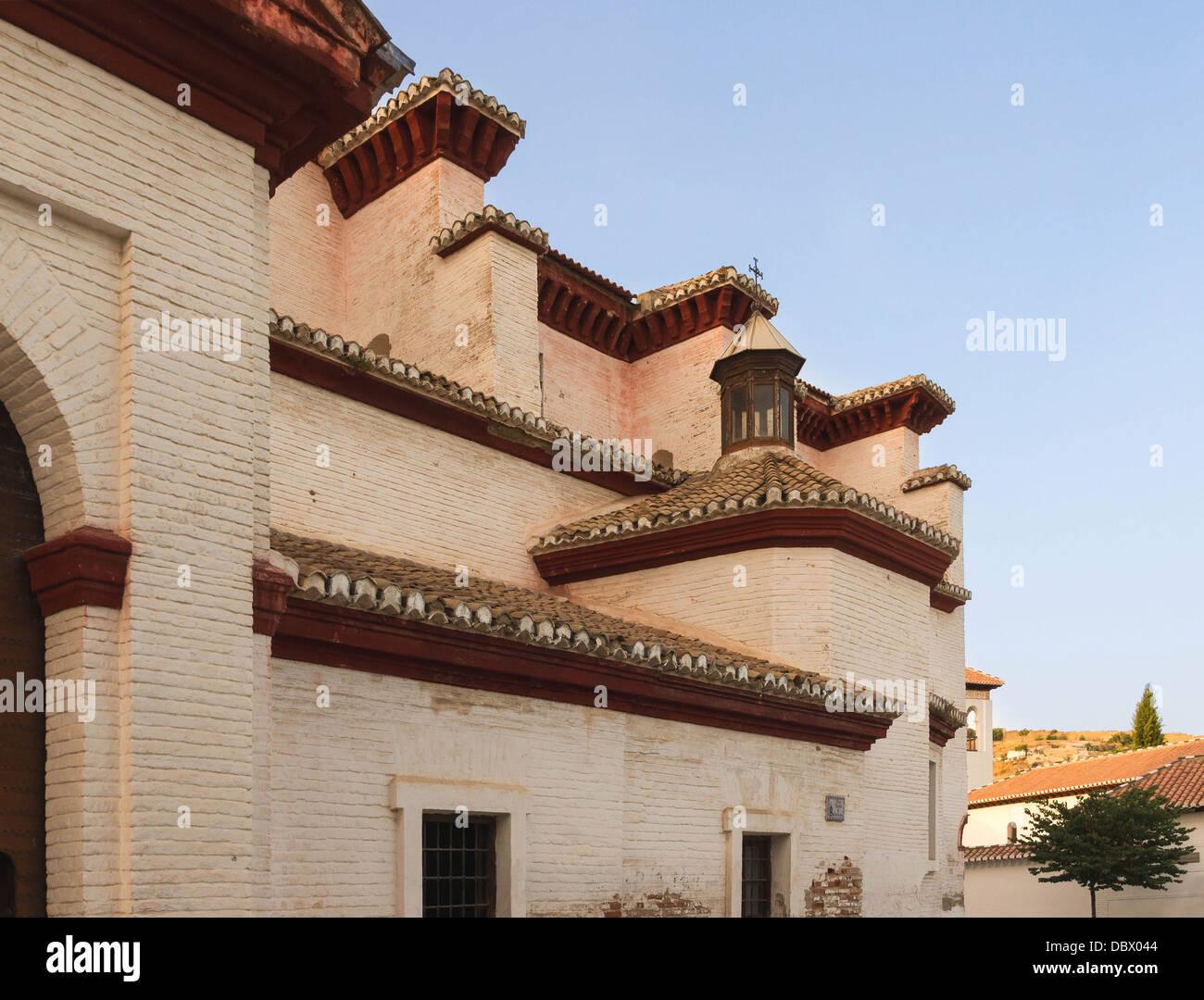 Architektonische Elemente der Kirche San Nicolas, Granada, Spanien Stockbild